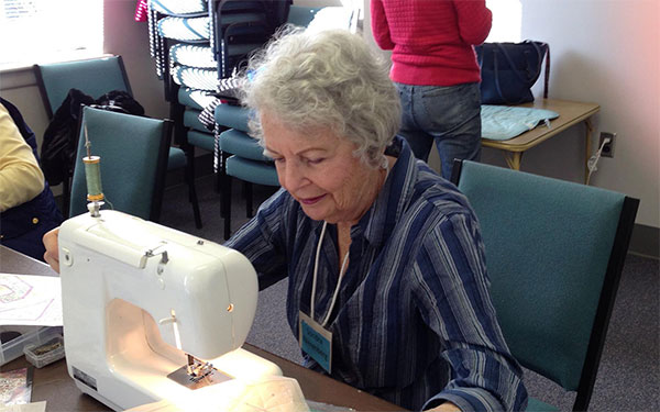 At work with sewing